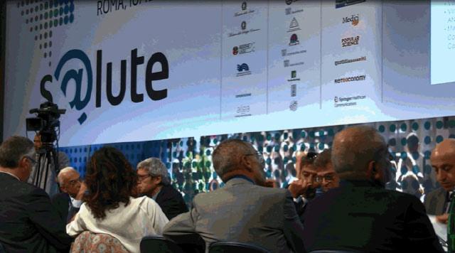 Uno dei tavoli di discussione di S@lute, il primo Forum della Sanità Digitale. L'evento si è svolto a Roma il 10-12 settembre, presso la sede della Libera Università Internazionale degli Studi Sociali Guido Carli (LUISS)